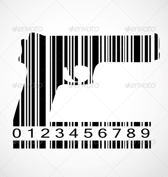 GraphicRiver Barcode Gun Image Vector Illustration 4740401