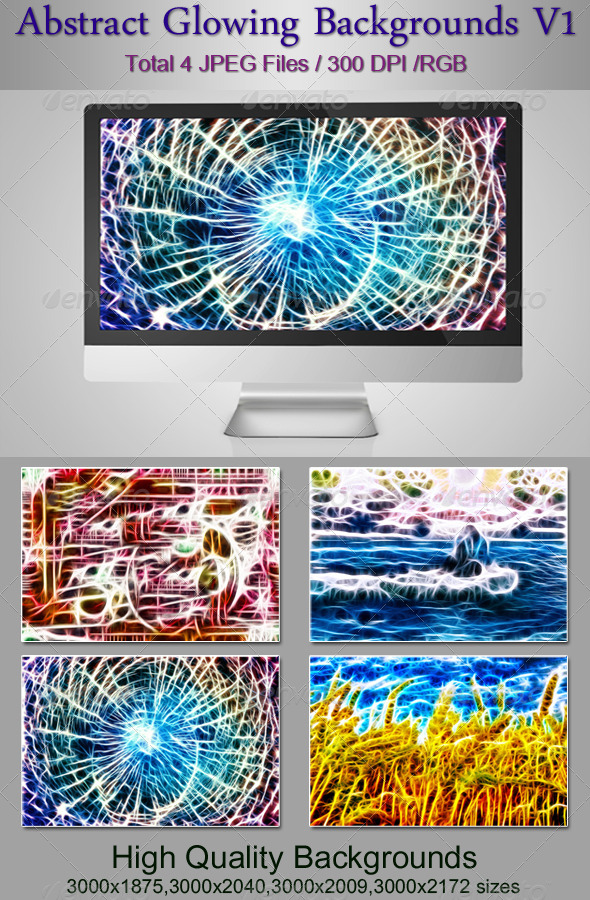 GraphicRiver Abstract Glowing Backgrounds V1 4581231