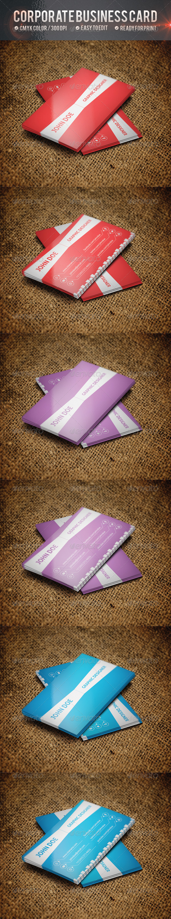 GraphicRiver Corporate Business Card V2 4740490