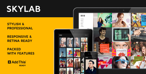 Skylab Portfolio / Photography WordPress Theme (Photography) images