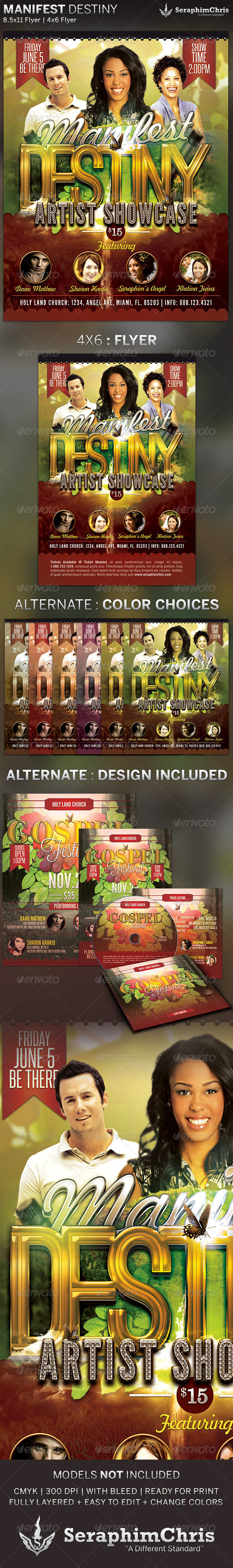 Manifest Destiny: Church Concert Flyer Template - Print Templates