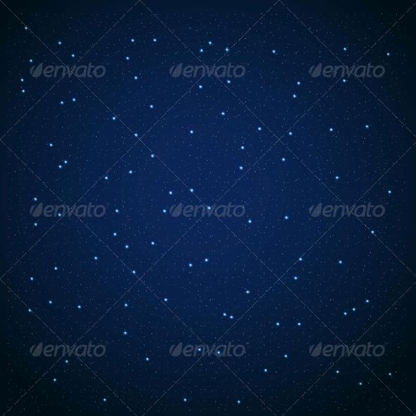 GraphicRiver Star Sky Vector Illustration Background 4741046