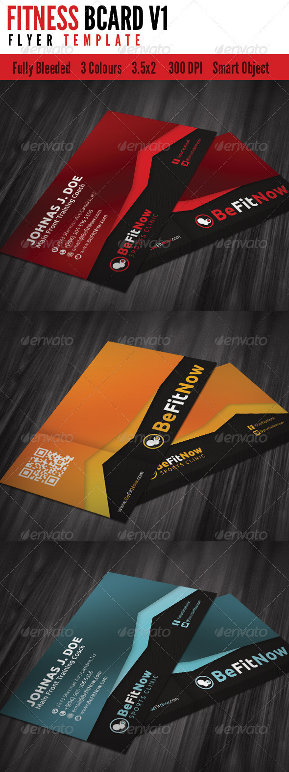 GraphicRiver Fitness Business Card V1 4667944