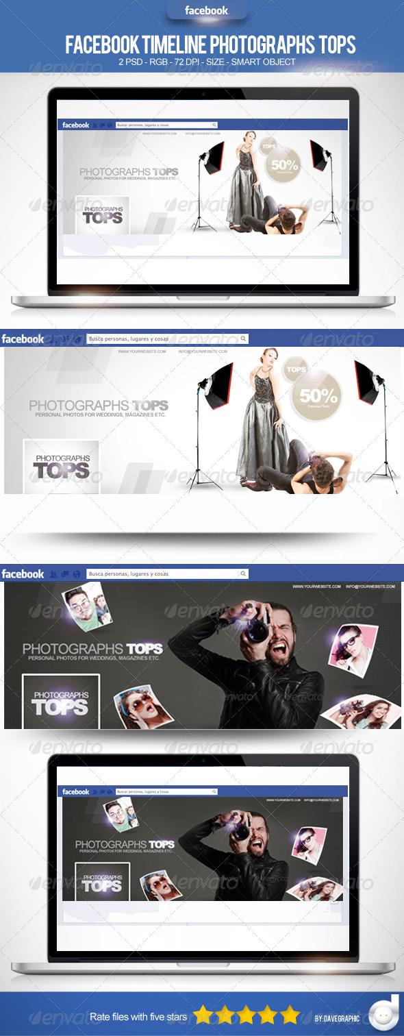 GraphicRiver Facebook Timeline Photographs Tops 4741243