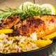 Lemon chicken with rice and roasted corn - PhotoDune Item for Sale