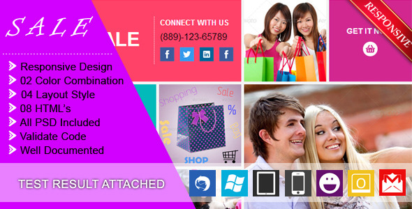 SALE - RESPONSIVE + BUSINESS + E-COMMERCE EMAIL