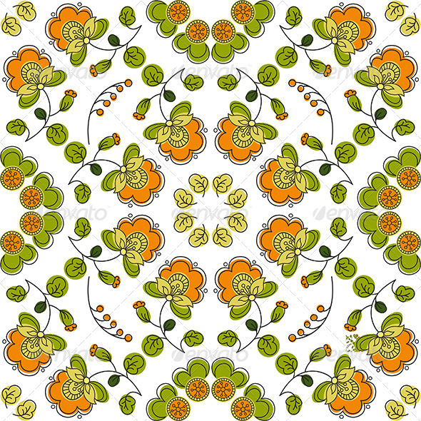 GraphicRiver Summer Seamless Floral Pattern 4741367