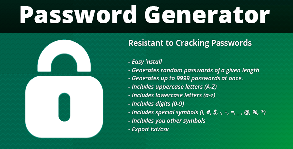CodeCanyon FPG Password Generator 4741527
