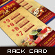 Corporate Rack Card - Pizza More - GraphicRiver Item for Sale