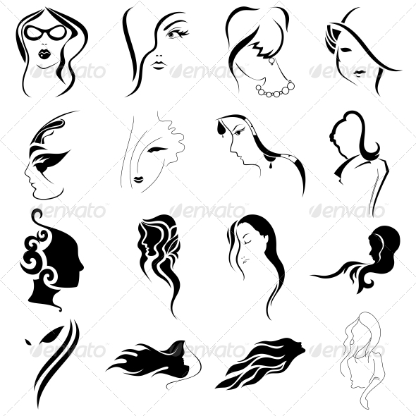 GraphicRiver Women Faces Tribal Abstracts Designs Vector Pack 4741576