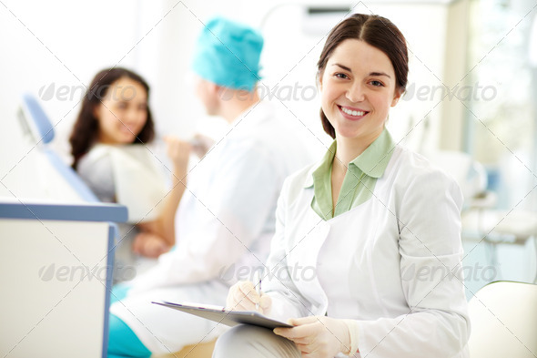 Pretty assistant - Stock Photo - Images