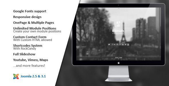 ThemeForest Bismuth All in One Responsive Joomla Template 4741591