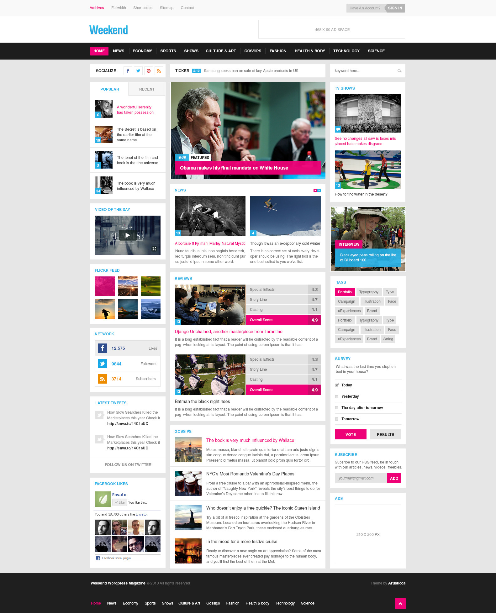 Weekend - Magazine & Blog