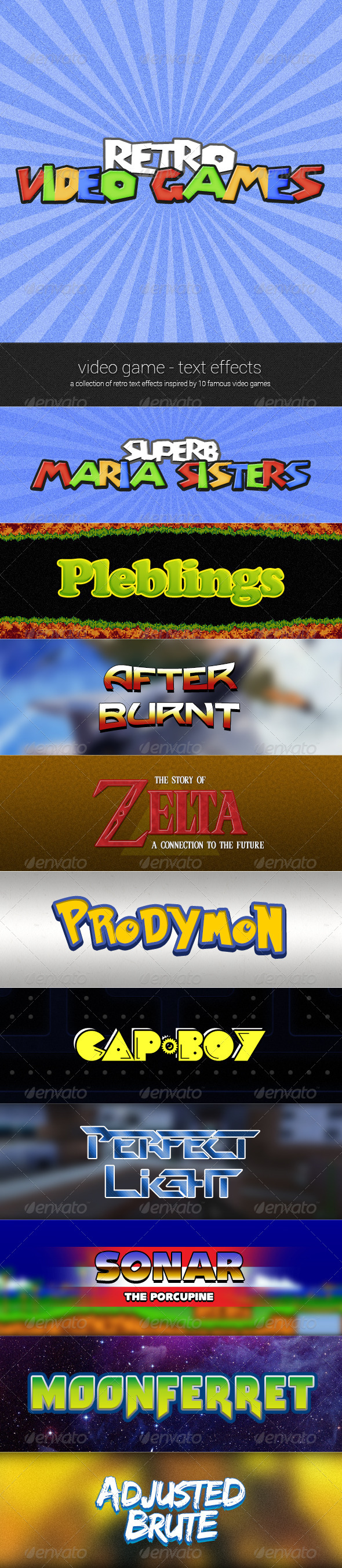 GraphicRiver Retro Video Game Text Effects 4741976