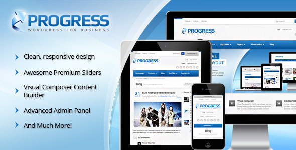 Progress Responsive Multi-Purpose Theme - Corporate WordPress