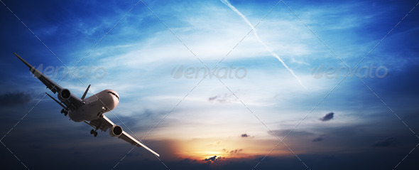 Stock Photo - PhotoDune Jet plane in flight 494690