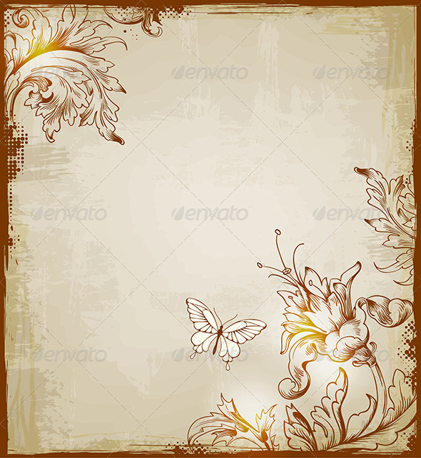 GraphicRiver Vintage Decorative Background 4741994