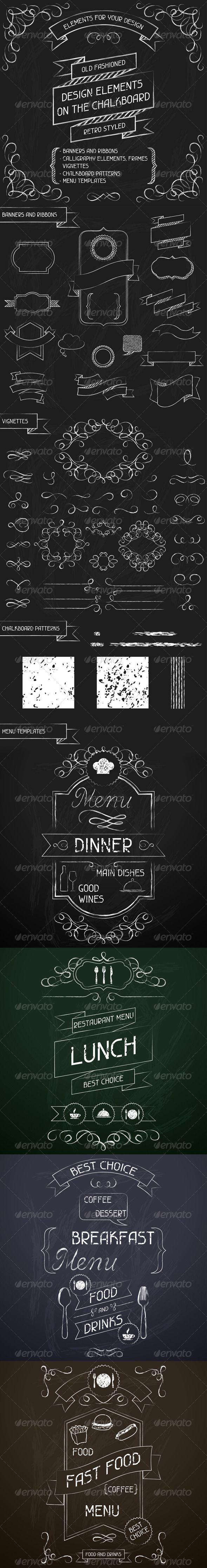 GraphicRiver Design Elements on the Chalkboard 4742029