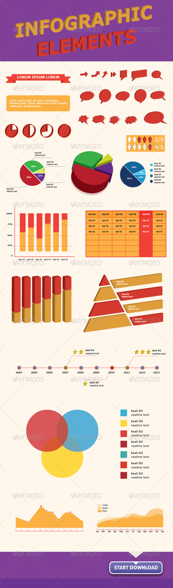 GraphicRiver Infographics Vector Elements for Web & Print 4742062