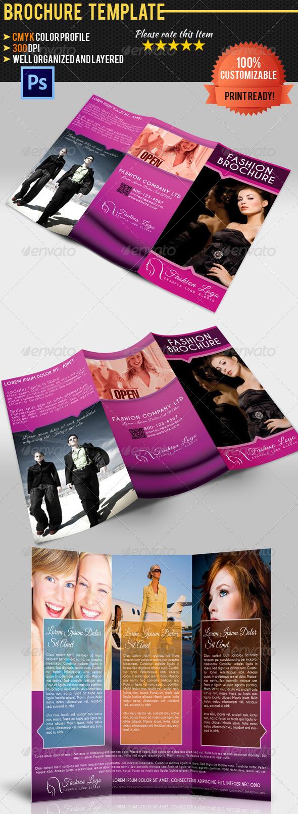 GraphicRiver Tri-Fold Fashion Brochure 4664502