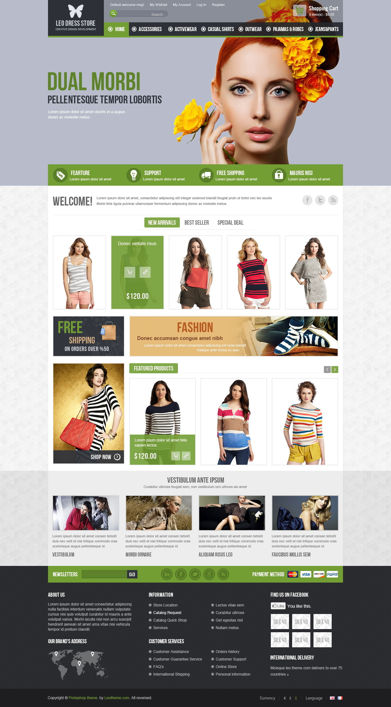 Leo Dress Store Prestashop Theme
