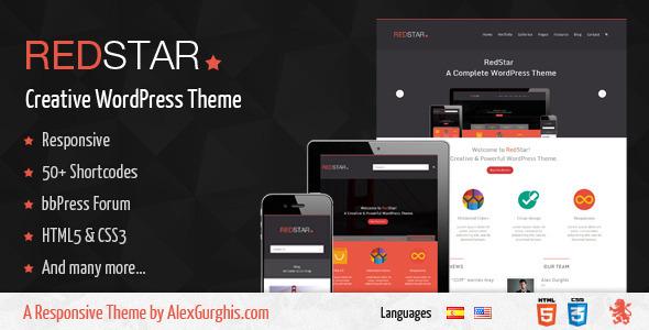 ThemeForest RedStar A Creative WordPress Theme 4738392