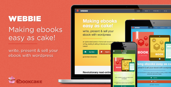 Webbie - WordPress theme for ebook authors