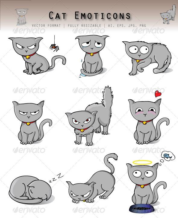 GraphicRiver Cat Emoticons 4743681