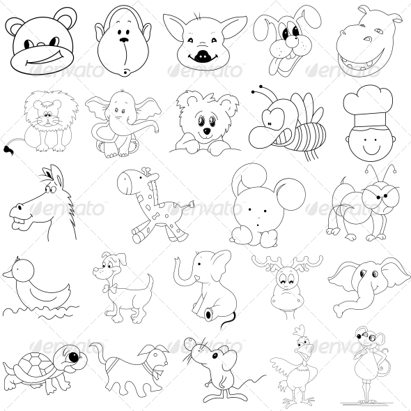 GraphicRiver Kids Toys Vector Designs Pack 4743864