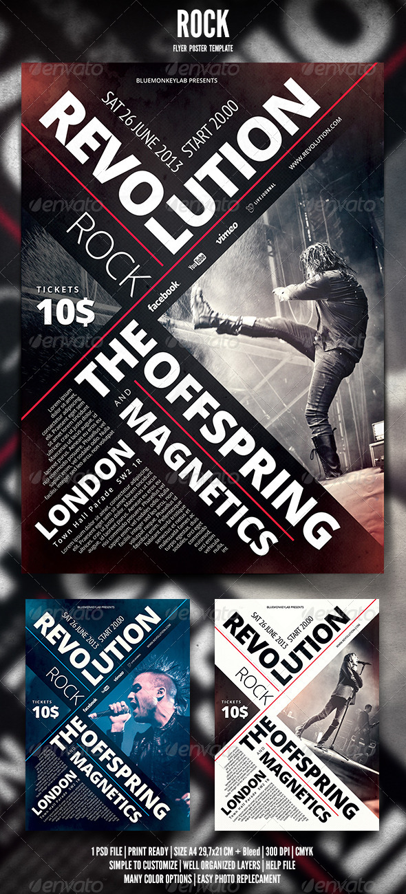 GraphicRiver Rock Flyer Poster 6 4744029