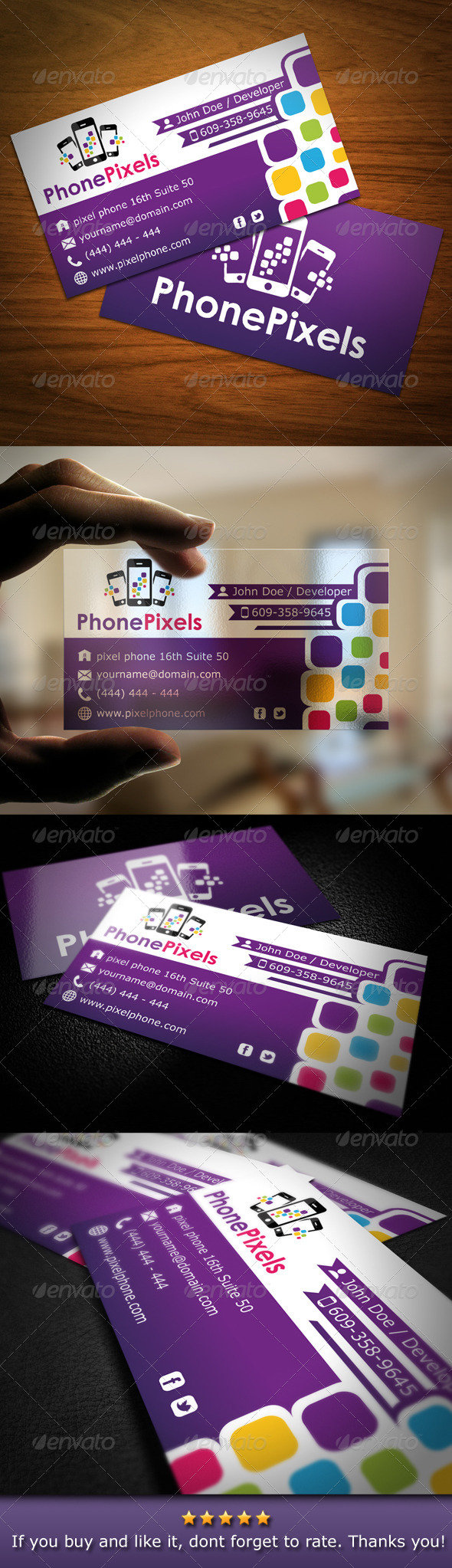 GraphicRiver Smartphone Business Card 4744065