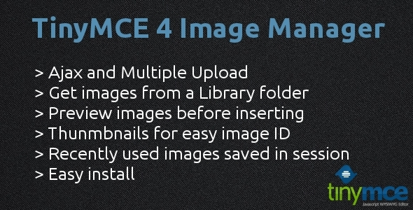 CodeCanyon TinyMCE 4 Image Manager 4744204