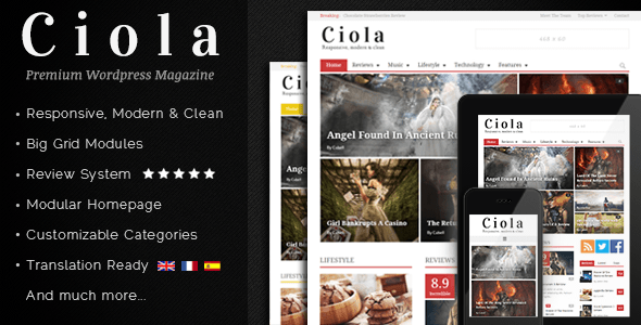 Ciola – Premium Responsive WordPress Magazine (News / Editorial) images