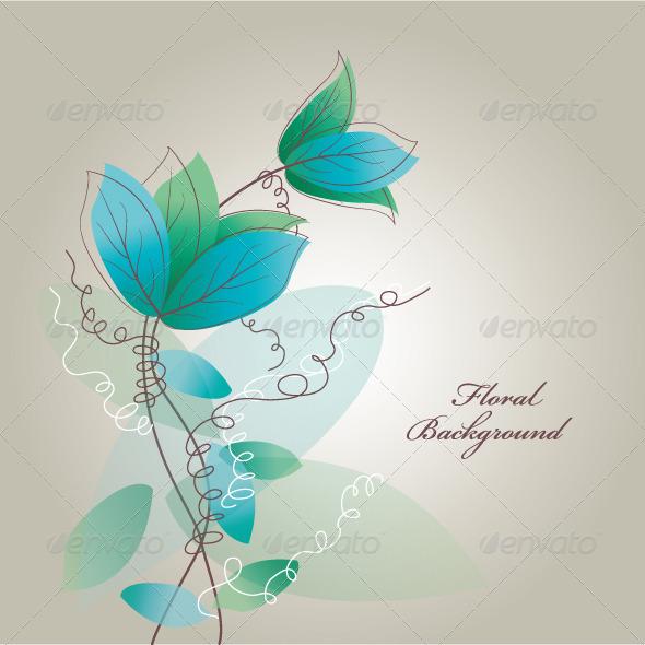 GraphicRiver Retro Floral Background 4744263