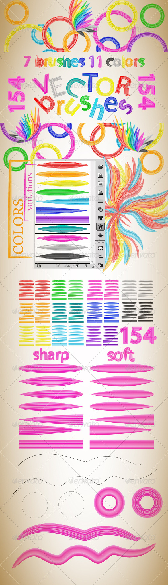 GraphicRiver Fantastic Colorful Vector Brush 4739280
