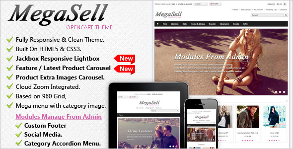 Megasell - Elegant & Responsive Opencart Theme
