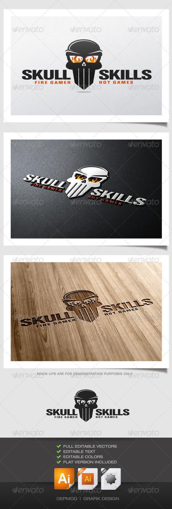 GraphicRiver Skull Skills Logo 4744615