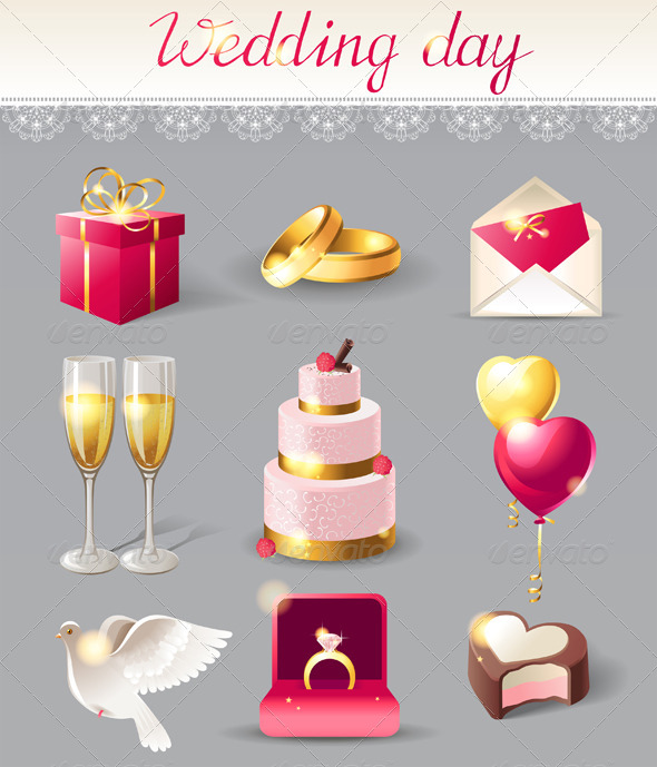 GraphicRiver Wedding Icons 4744761