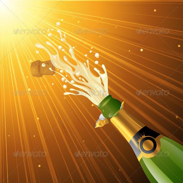 GraphicRiver Splashing Champagne 4744800
