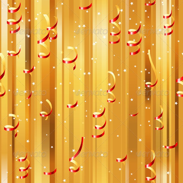 GraphicRiver Red Paper Streamers Seamless 4744813