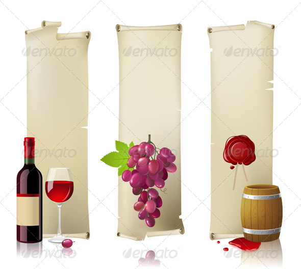 GraphicRiver Wine Banners 4744835