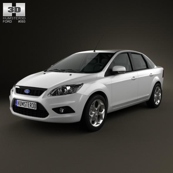 Ford Focus sedan 2008 - 3DOcean Item for Sale