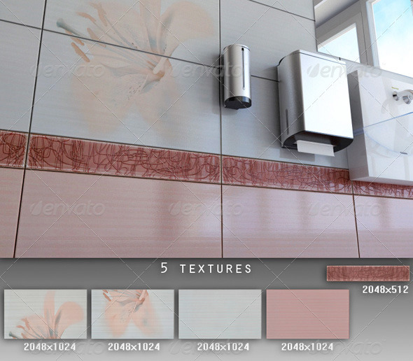 Professional Ceramic Tile Collection C036 - 3DOcean Item for Sale