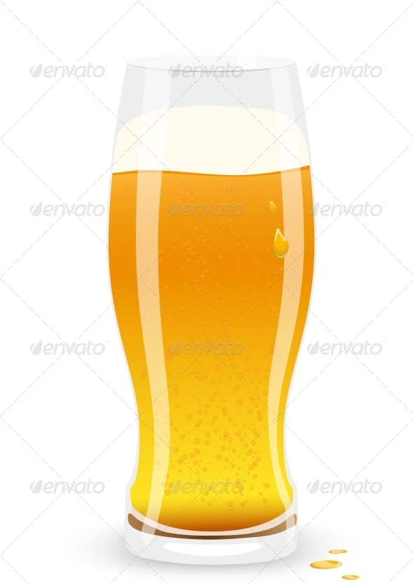 Lager Beer Vector Illustration