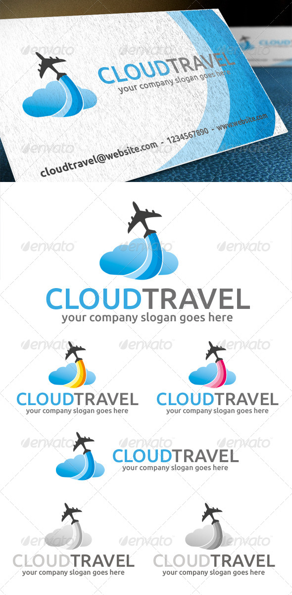 GraphicRiver Cloud Travel Logo 4745417