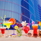 Colorful tropical cocktails in summer at city buildings - PhotoDune Item for Sale