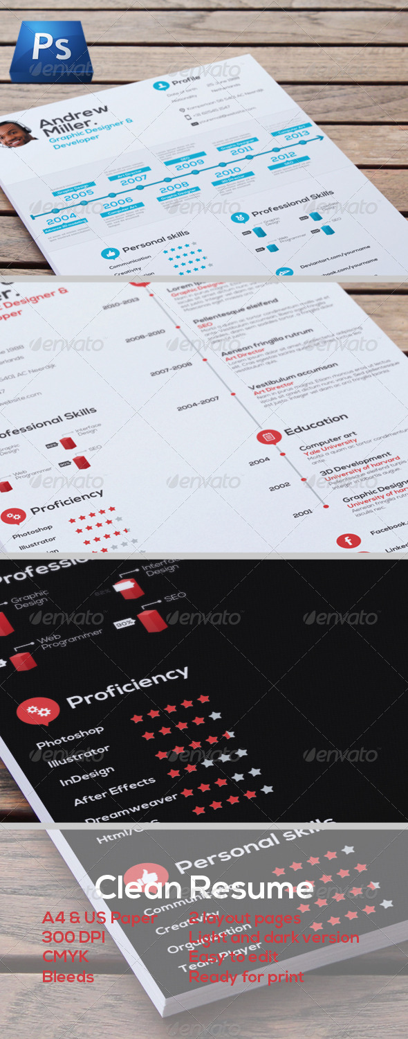 GraphicRiver Professional Resume 4663445