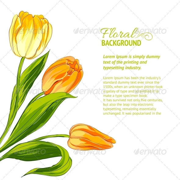 GraphicRiver Tulip Bouquet 4746052