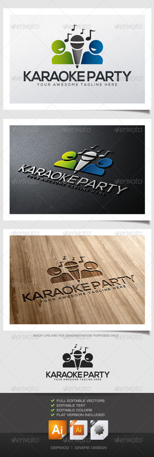Karaoke Party Logo - Symbols Logo Templates