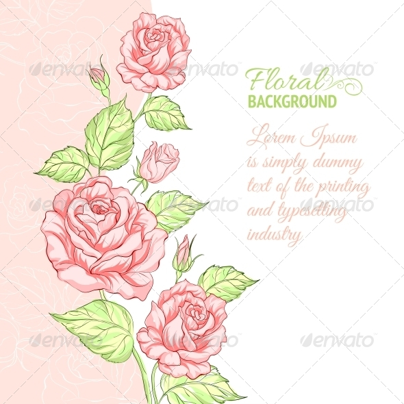 GraphicRiver Silhouette of Rose with Sample Text 4746397